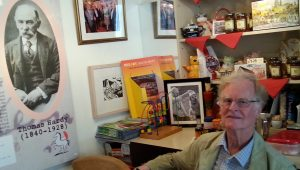 Here's Dr. John with Thomas Hardy at The Horse with the Red Umbrella